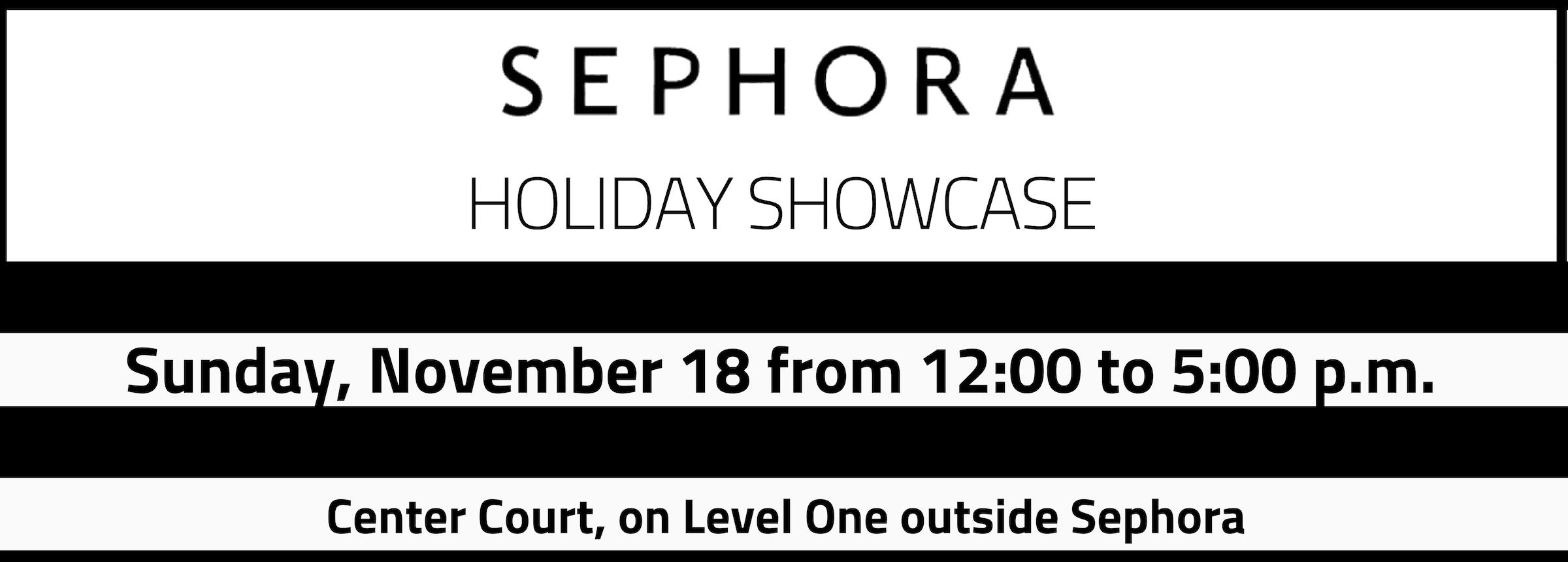 Sephora Holiday Showcase 2018 Slider