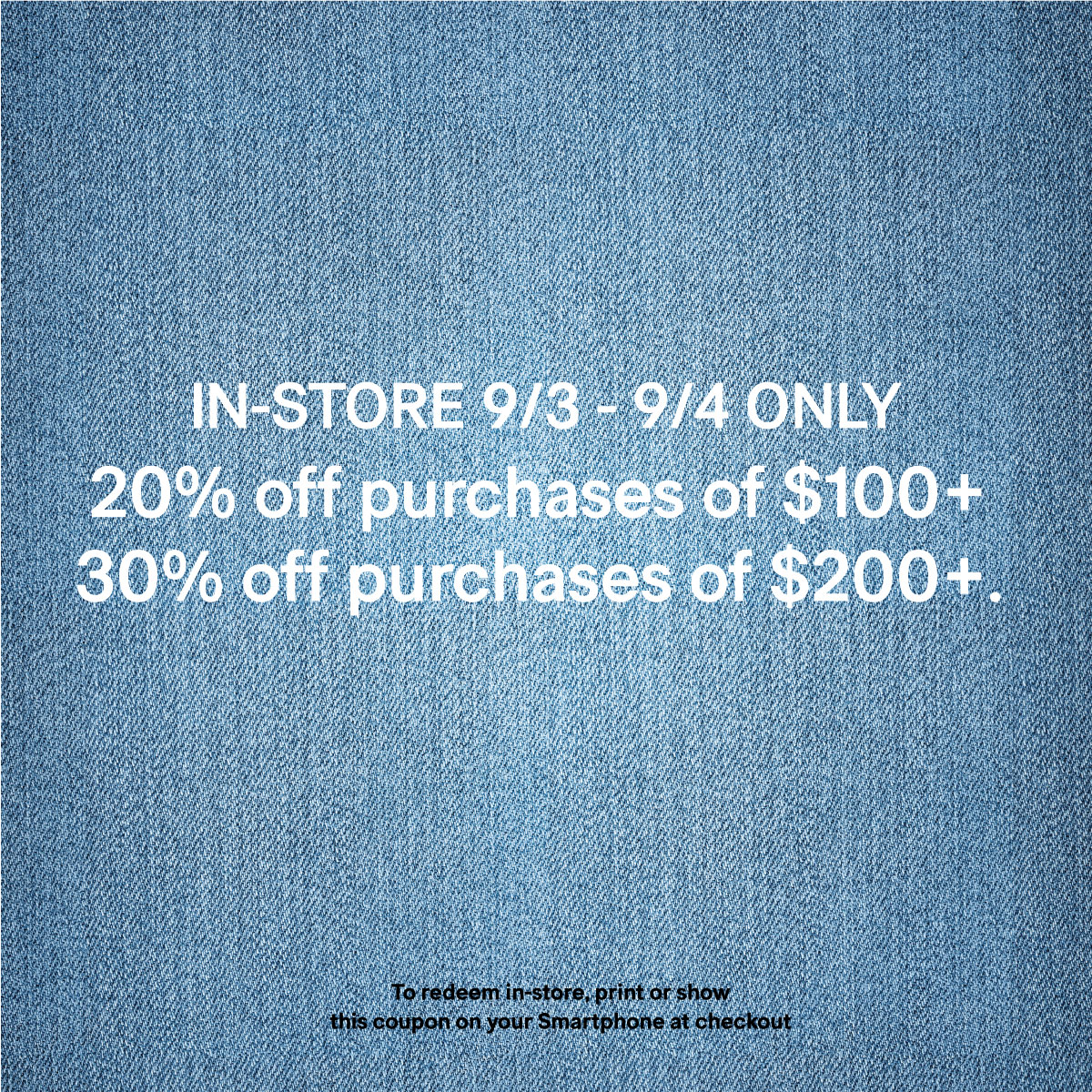 H M Labor Day Only Sale Palisades Center