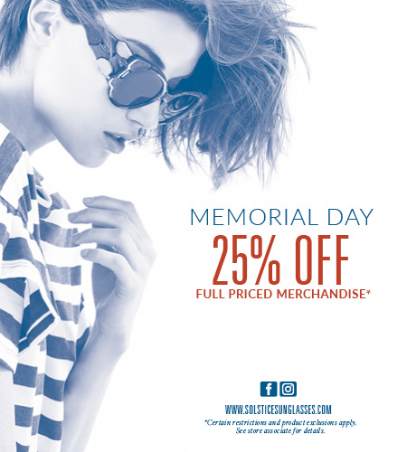 9be31ae606a Solstice Sunglass Boutique - Memorial Day Sale
