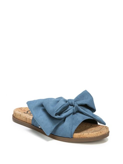 ca039e6cd 10) Circus by Sam Edelman – Ninette Open Toe Slides in Blue Denim · lord  and taylor blog 5 2018