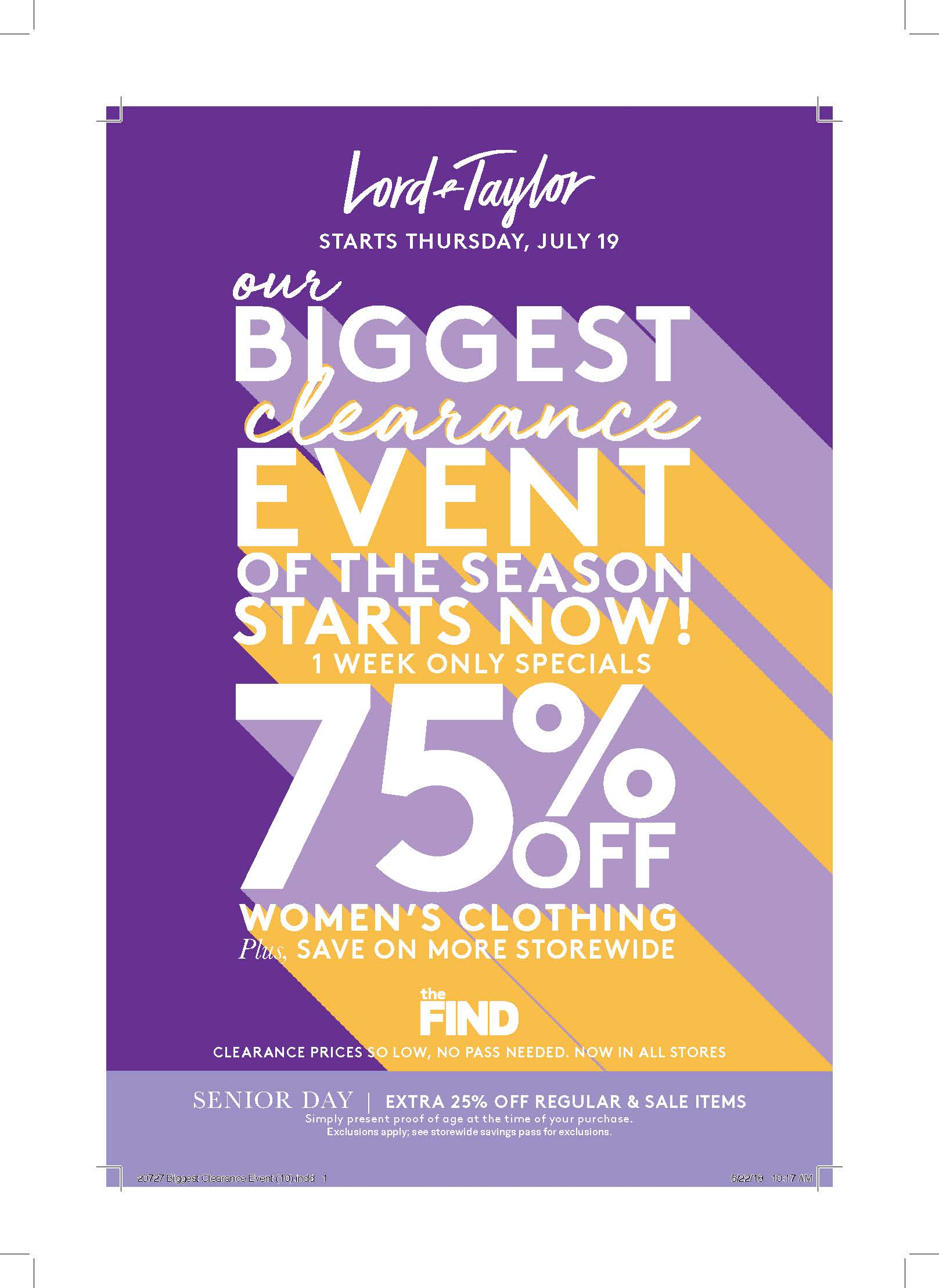 fd81373f2302a Lord & Taylor - Clearance Event - Palisades Center