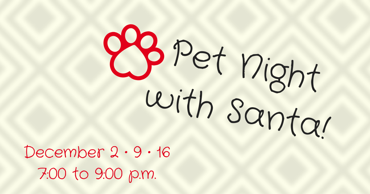 pet night with santa palisades center. Black Bedroom Furniture Sets. Home Design Ideas