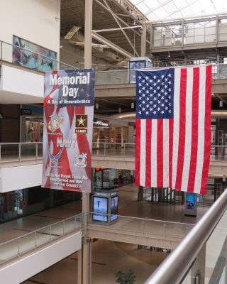Memorial Day Banner at Palisades Center