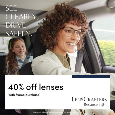 LensCrafters See clearly drive safely 1280x1280 EN