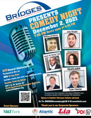 BRIDGES Comedy Night Flyer